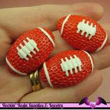 4 pcs FOOTBALL Resin Decoden Sports Cabochons 33x21mm - Rockin Resin  - 1