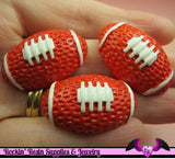 4 pcs FOOTBALL Resin Decoden Sports Cabochons 33x21mm - Rockin Resin  - 2