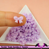 Purple LAVENDER BOW Cabochon Tiny Nail Art Resin Flatback Nail Cabochons (10 pieces) - Rockin Resin  - 1