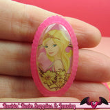 Pink PRINCESS Girl Decoden Kawaii Flatback Resin Cabochons 21x38mm - Rockin Resin  - 1