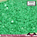200 pcs 4mm Pastel SEAFOAM GREEN Decoden Faceted Flatback Rhinestones - Rockin Resin  - 1