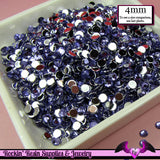 200 pcs 4mm DARK PURPLE RHINESTONES Flatback Great Quality 16ss - Rockin Resin  - 1