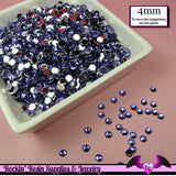 200 pcs 4mm DARK PURPLE RHINESTONES Flatback Great Quality 16ss - Rockin Resin  - 3
