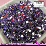 200 pcs 5 mm LIGHT PURPLE RHINESTONES Flatback Great Quality - Rockin Resin  - 1