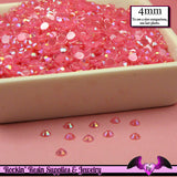200 pcs 4mm AB Jelly HOT PINK Decoden Faceted Flatback Rhinestones - Rockin Resin  - 2