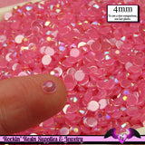 200 pcs 4mm AB Jelly HOT PINK Decoden Faceted Flatback Rhinestones - Rockin Resin  - 1