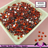 200 pcs 4 mm RUBY RED RHINESTONES Flatback Great Quality 16ss - Rockin Resin  - 2