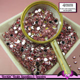 200 pcs 4mm LIGHT PINK RHINESTONES Flatback Great Quality 16ss - Rockin Resin  - 1