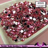 200 pcs 4mm HOT PINK RHINESTONES Flatback Great Quality 16ss - Rockin Resin  - 1