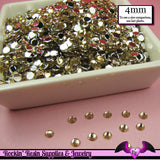 200 pcs 4mm LIGHT TOPAZ RHINESTONES Flatback Great Quality 16ss - Rockin Resin  - 2