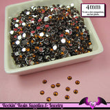 200 pcs 4mm COFFEE Brown RHINESTONES Flatback Great Quality 16ss - Rockin Resin  - 2