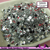 200 pcs 5mm CLEAR MIRROR RHINESTONES Flatback Great Quality - Rockin Resin  - 2