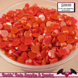 200 pcs 5mm JELLY RED Decoden Faceted Flatback Rhinestones - Rockin Resin  - 1