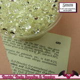 200 pcs 5mm CLEAR Decoden Faceted Flatback Rhinestones - Rockin Resin  - 2