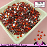 200 pcs 5mm RUBY RED RHINESTONES Flatback Great Quality - Rockin Resin  - 1
