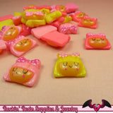 SWEET GIRL HEAD Decoden Kawaii Flatback Resin Cabochons 16x15mm - Rockin Resin  - 2
