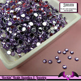 3mm LIGHT PURPLE RHINESTONES Flatback Great Quality / Decoden Crystal Phone Deco (300 pieces) - Rockin Resin  - 2