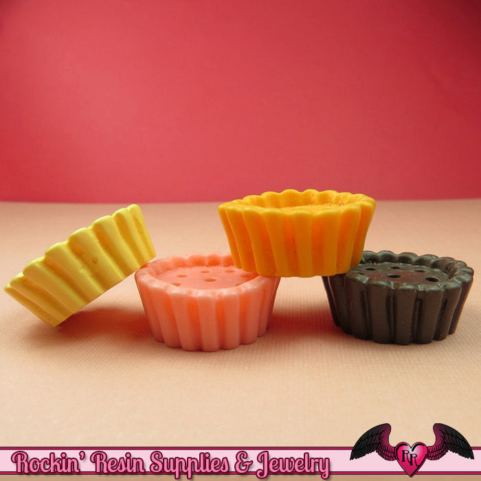 8 pcs Large CUPCAKE Base Cabochons / Resin Miniature Sweets Decoden Base 27mm