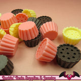 9 pcs Small CUPCAKE Base Cabochons / Resin Miniature Sweets Decoden Base 20mm - Rockin Resin  - 2