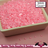 300 pcs 3mm Pastel SOFT PINK Decoden Faceted Flatback Candy Rhinestones - Rockin Resin  - 2