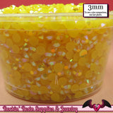 300 pcs 3mm AB SUNSHINE YELLOW Jelly Decoden Faceted Flatback Candy Rhinestones - Rockin Resin  - 2