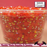 300 pcs 3mm AB RED Jelly Decoden Faceted Flatback Candy Rhinestones - Rockin Resin  - 2