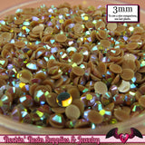 300 pcs 3mm AB BROWN Jelly Decoden Faceted Flatback Candy Rhinestones - Rockin Resin  - 1