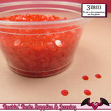 300 pcs 3mm CHERRY RED Jelly Decoden Faceted Flatback Candy Rhinestones - Rockin Resin  - 2