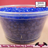 300 pcs 3mm NAVY BLUE Jelly Decoden Faceted Flatback Candy Rhinestones - Rockin Resin  - 2