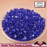 300 pcs 3mm NAVY BLUE Jelly Decoden Faceted Flatback Candy Rhinestones - Rockin Resin  - 1