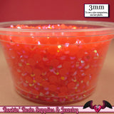 300 pcs 3mm AB CORAL Jelly Decoden Faceted Flatback Candy Rhinestones - Rockin Resin  - 2