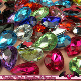 12 pcs ACRYLIC GEMS Small Faceted Teardrop Decoden Rhinestones 18x13mm - Rockin Resin  - 2