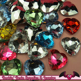 10 pcs HEART ACRYLIC GEMS Faceted Decoden Rhinestones 25mm - Rockin Resin  - 2