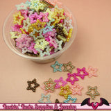 50 Pcs Pearlized STARS Decoden Flatback Kawaii Cabochons 12mm - Rockin Resin  - 2