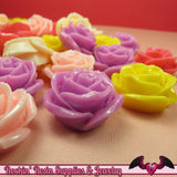 5 pcs 23mm ROSES Resin Flower Cabochons / Decoden Flatback Cabochon - Rockin Resin  - 2
