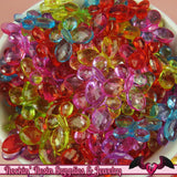 BUTTERFLY Faceted Acrylic Beads Transparent Mixed Colors 17x13mm (50 pieces) - Rockin Resin  - 3