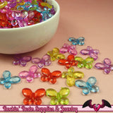 BUTTERFLY Faceted Acrylic Beads Transparent Mixed Colors 17x13mm (50 pieces) - Rockin Resin  - 1