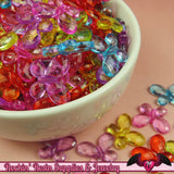 BUTTERFLY Faceted Acrylic Beads Transparent Mixed Colors 17x13mm (50 pieces) - Rockin Resin  - 2