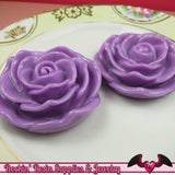 JUMBO ROSE BEADS 48mm Lavender Purple Chunky Beads Large Rose Beads (2 Pieces) - Rockin Resin  - 3