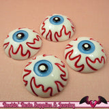 4 pc EYE BALL Halloween Decoden Flatback Kawaii Cabochons 24mm - Rockin Resin  - 2