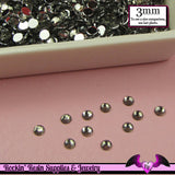 3mm GRAY RHINESTONES Flatback Great Quality / Decoden Crystal Phone Deco (300 pieces) - Rockin Resin  - 2