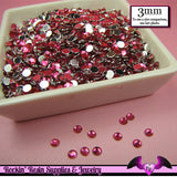 3mm Super HOT PINK RHINESTONES Flatback Great Quality / Decoden Crystal Phone Deco (300 pieces) - Rockin Resin  - 2