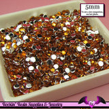 200 pcs 5mm ORANGE RHINESTONES Flatback Great Quality / Decoden Crystal Phone Deco - Rockin Resin  - 1