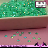 5mm 200 pcs AB Jelly AQUA Blue Green Rhinestones Flatback / Decoden Crystal Phone Deco - Rockin Resin  - 2
