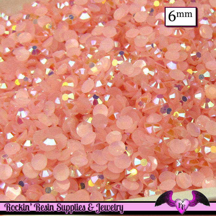 6mm 200 pcs AB PINK Jelly RHINESTONES Flatback / Decoden Crystal Phone Deco
