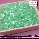 5mm 200 pcs AB AQUA BLUE Jelly Rhinestones Flatback / Decoden Crystal Phone Deco - Rockin Resin  - 2