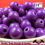 GUMBALL Beads 14mm Beads 25 pcs GRAPE PURPLE Round Acrylic Beads - Rockin Resin  - 1
