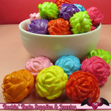24mm ROSE Gumball Beads 8 pcs Bright Colorful MIX Acrylic Beads - Rockin Resin  - 3