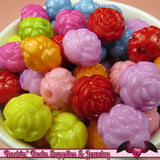 16mm ROSE Gumball Beads 20 pcs Bright Colorful MIX - Rockin Resin  - 1