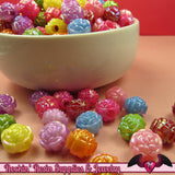 10mm AB ROSE Beads 40 pcs Colorful Acrylic Bead Mix - Rockin Resin  - 2
